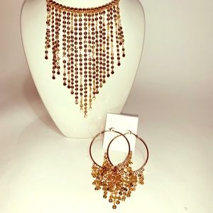 Jessica Simpson  Necklace and hoop earrings set